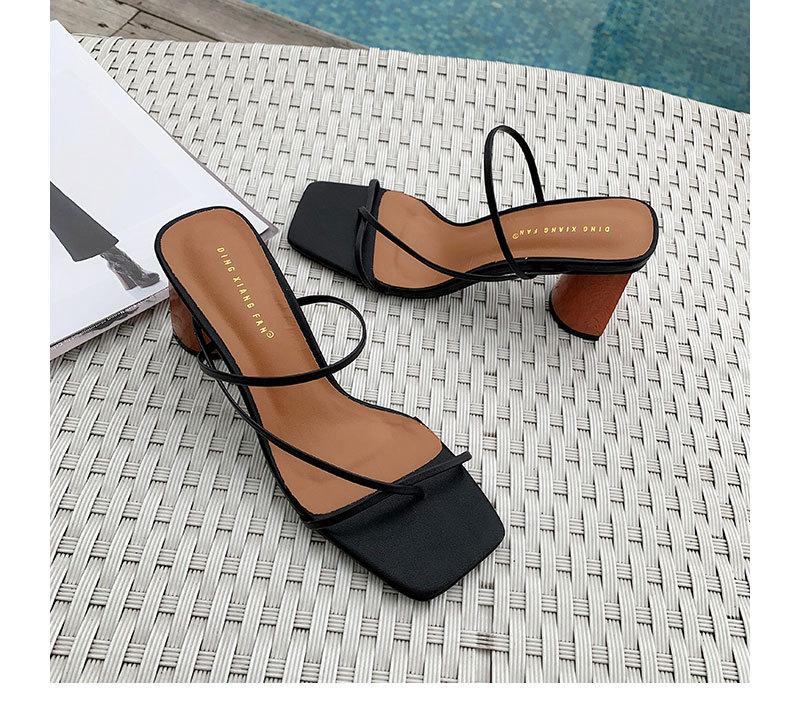 Fashion versatile high heel sandals and slippers NHHU151728