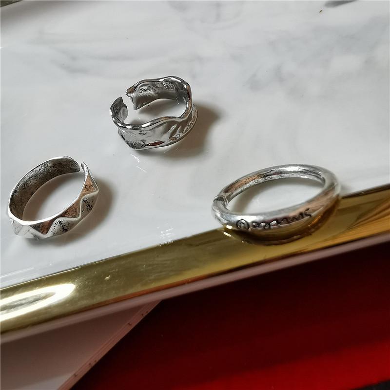Korean style CHIC simple three-piece ring NHYQ147065