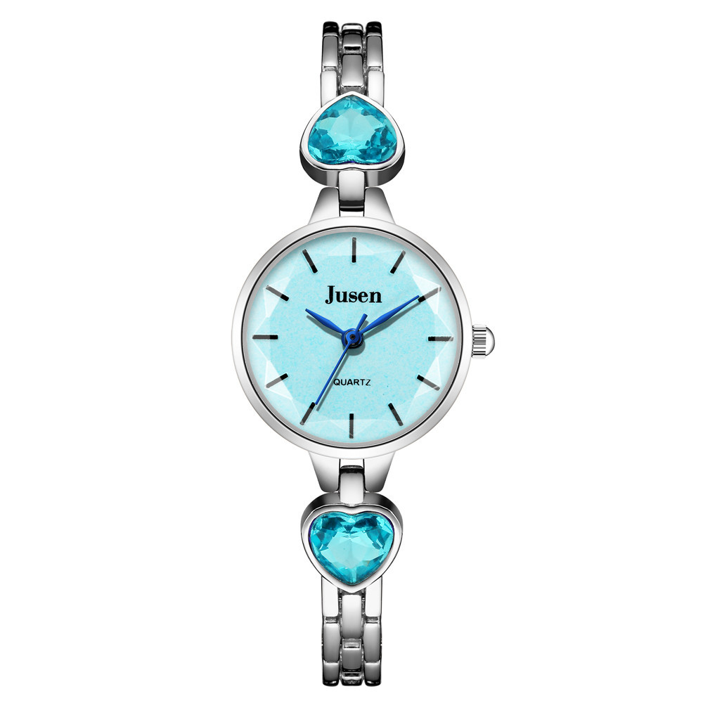 Fashion Sweet Small Fine Bracelet Quartz Watch Love Rhinestone Student Bracelet Watch wholesale nihaojewelry NHSS220633