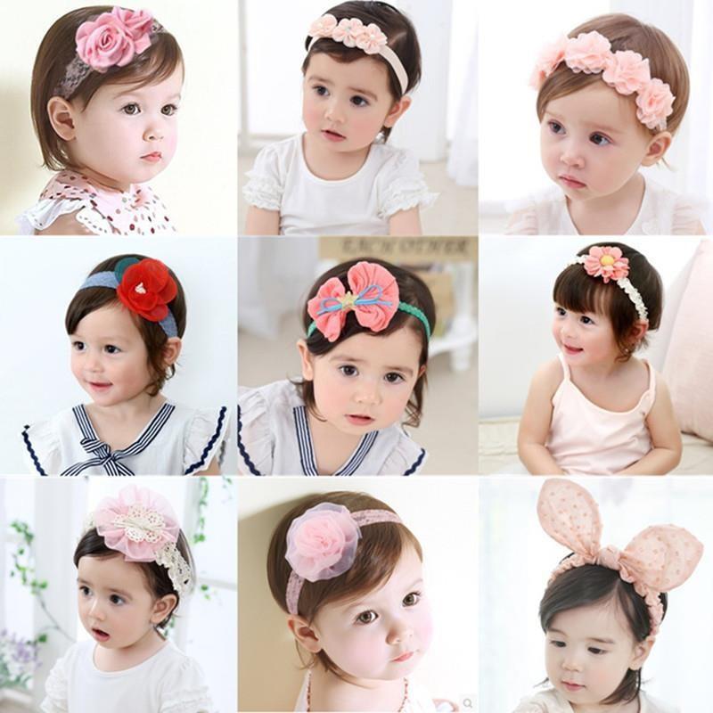支持1件代发幼儿女婴头饰品大蝴蝶结新生的儿宝宝发带娃娃蕾