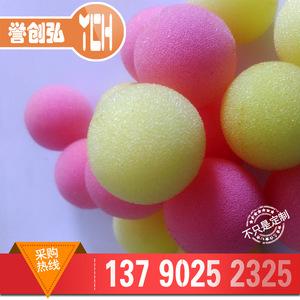 工厂定制各种规格彩色PU海绵球 小丑鼻子婴儿握力玩具球聚氨酯球