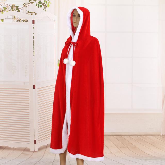 RPQ-3/5/6成人带帽长款金丝绒披风1.8米/1.5m/1.2m圣诞节日用品