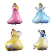新品白雪公主灰姑娘睡美人铝膜气球 卡通公主系列派对铝膜气球