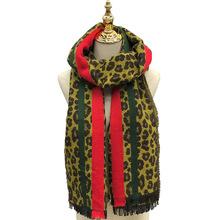 時尚個性中長款豹紋女圍巾新款韓版秋冬空調防曬披肩長紗巾批發