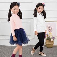 女童長袖兒童打底衫2019秋新款寶寶童裝韓版T恤兒童純棉一件代發