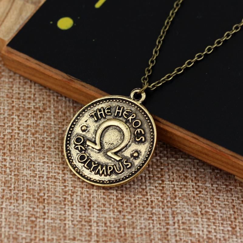 欧美饰品珀西·杰克逊营地一半血的英雄奥林巴斯ivlivs钱币项链