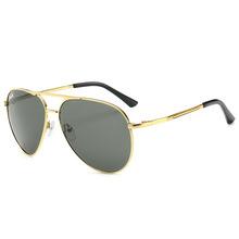 钢化玻璃太阳眼镜金属框架强化镜片男士开车防风沙阳光紫外线墨镜