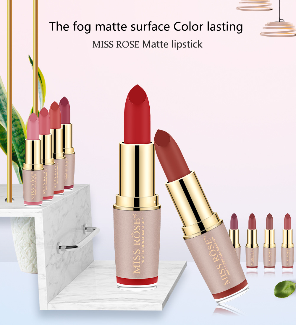 Four-color matte lipstick brick gold tube lipstick is not easy to bleach lipstick #27 1