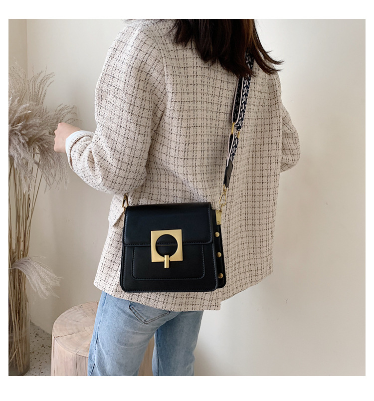 Vintage port style fashion solid color shoulder bag NHPB154154