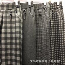 春季中老年女士妈妈裤超市地摊中年妇女弹力外穿流苏挂件打底裤