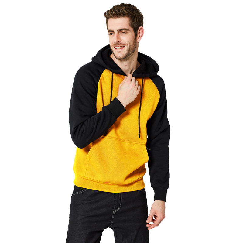 Amazon Hot Sale Autumn And Winter New Men's Sweaters Diy Street Color Matching Hooded Jacket Multicolor Color Matching Sweater Men's
