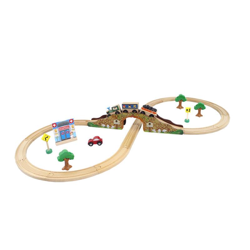 LIKIBB томас поезд трек многофункциональный крышка головоломка ребенок игрушка деревянный трек 8 шрифт