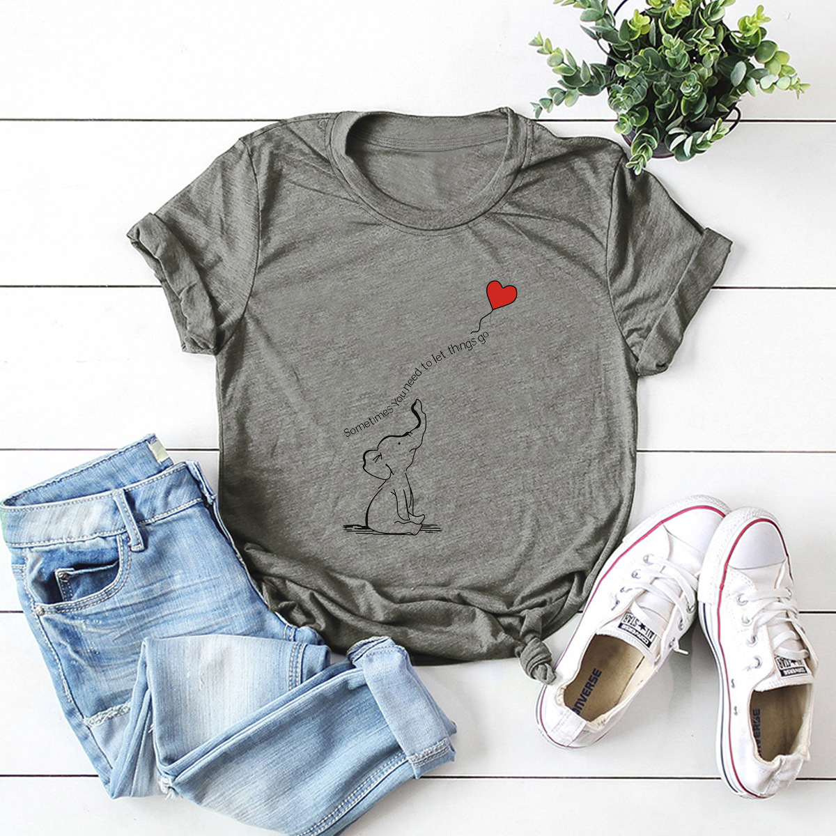 simple and comfortable fabric short-sleeved T-shirt NSSN3373