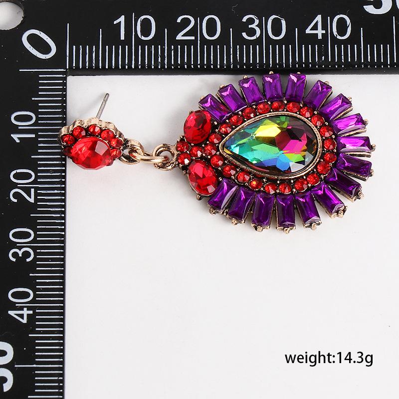 New geometric earrings color retro exaggerated earrings fashion earrings women NHJJ184685