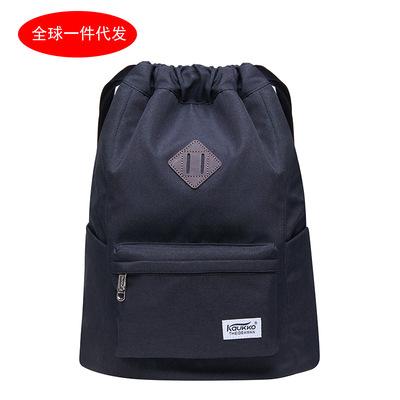 新款旅游雙肩背包袋運動健身束口袋抽繩雙肩包男女戶外包K2031