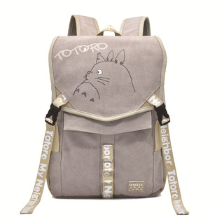 Man exhibition foreign trade Tokyo Ghoul Konoha My Neighbor Totoro monster attack giant canvas backpack cartoon casual bag