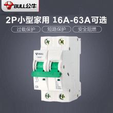 公牛断路器小型断路器空气开关家用空开电闸开关2P 16A32A40A63A