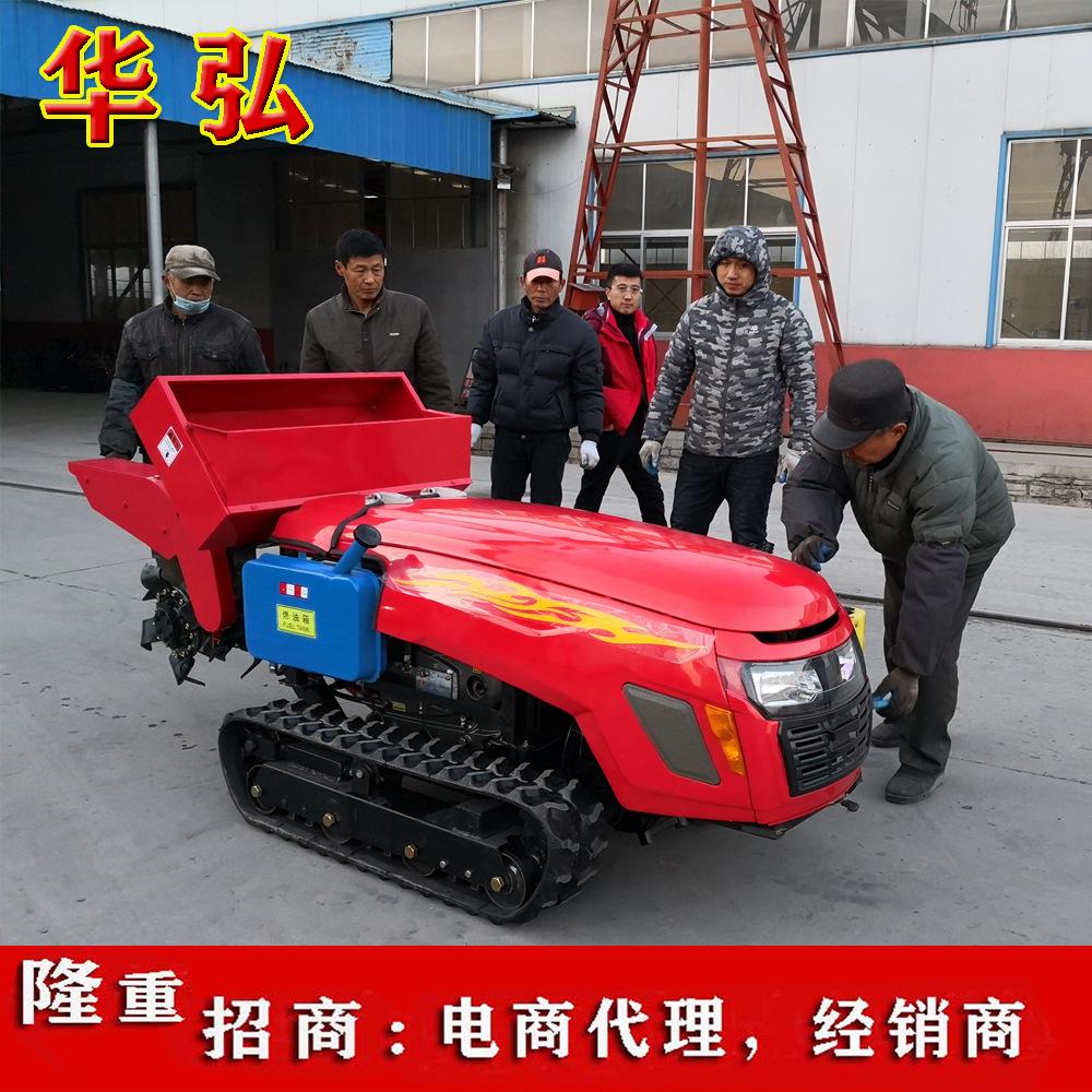 果园开沟施肥机小型履带旋耕机自走式田园管理机履带拖拉机厂家