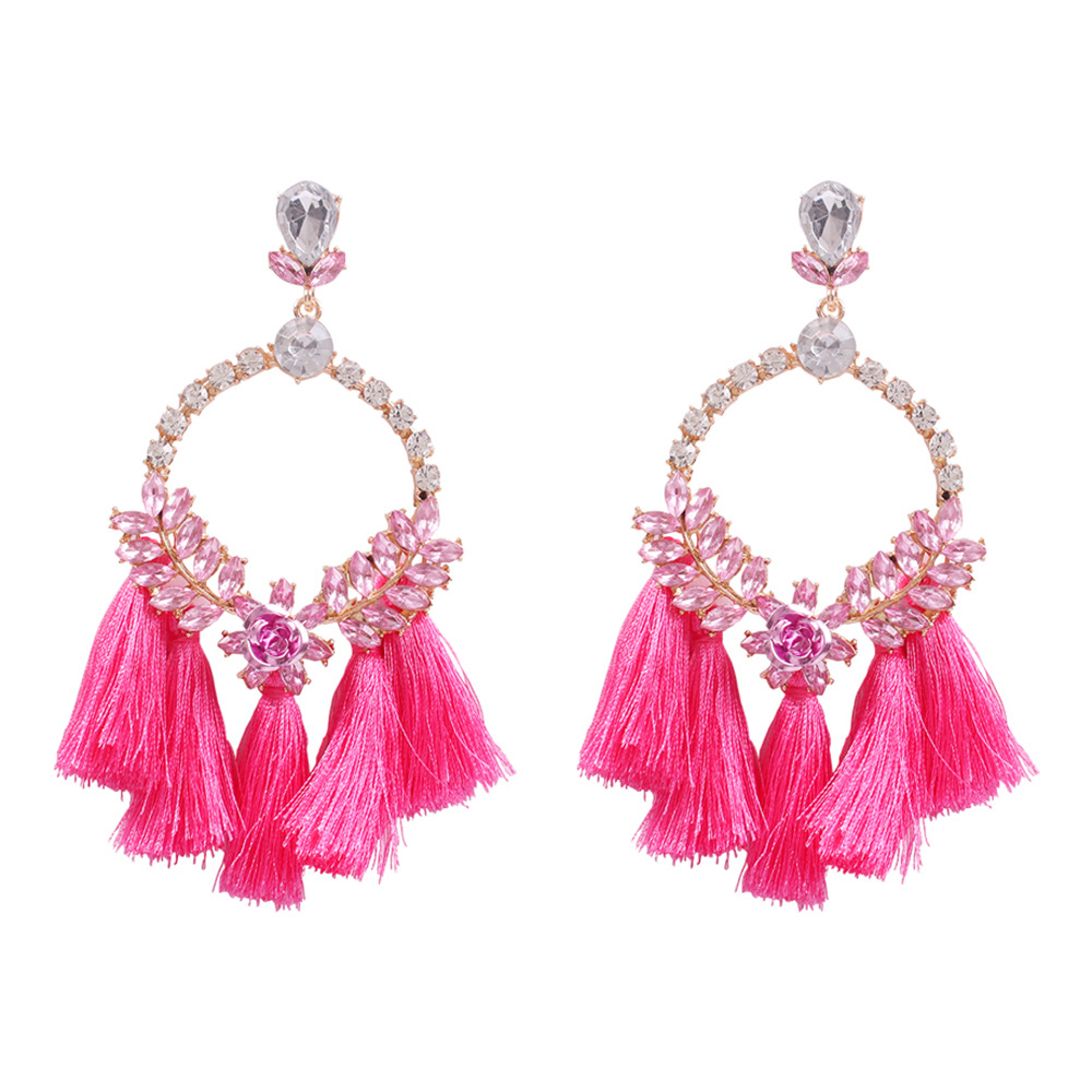 New Tassel Earrings Bohemia Creative Earrings Woven Vintage Style Diamond Earrings NHMD190136