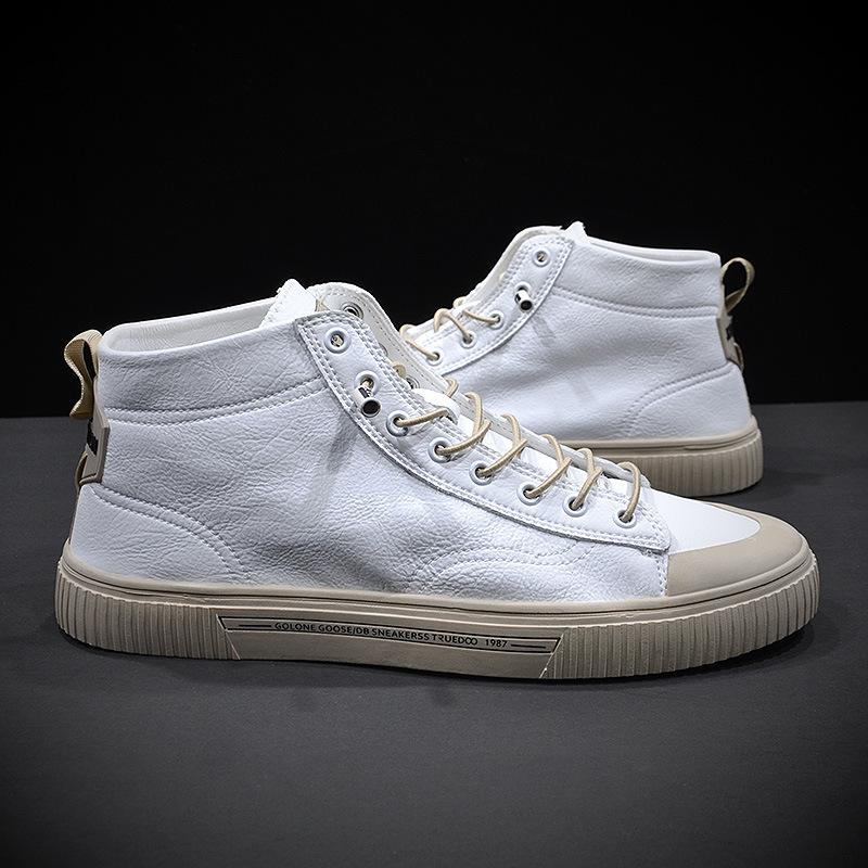 2020 الخريف فارس أحذية عالية الأعلى لينة أسفل الأحذية تنفس القشرية مريحة جوكر عدم الانزلاق دائم الاتجاه أحذية رجالية