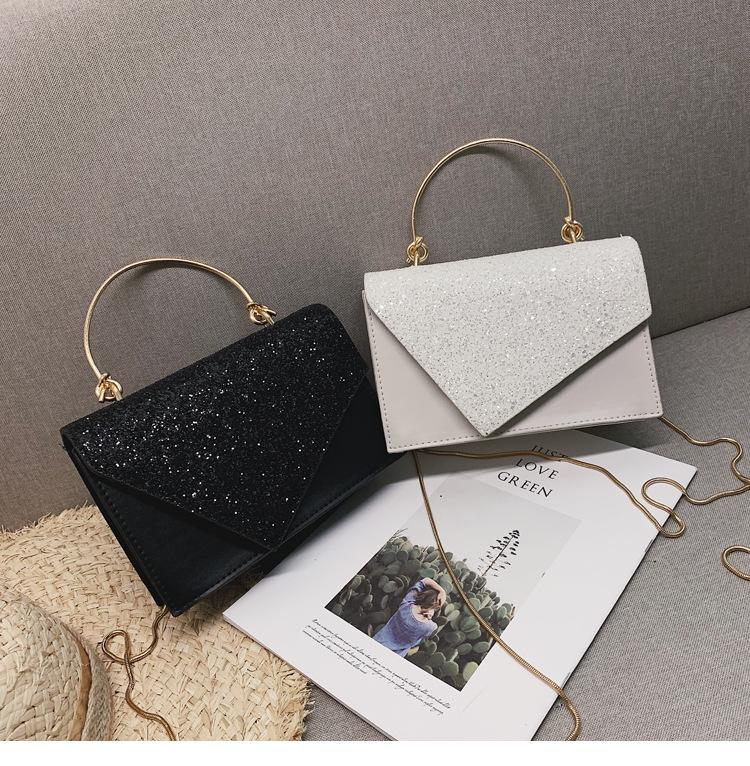 Korean fashion handbags shoulder slung chain small square bag NHXC144119