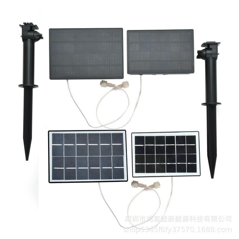 太阳能灯串配件 太阳能电池盒 插地花灯配件