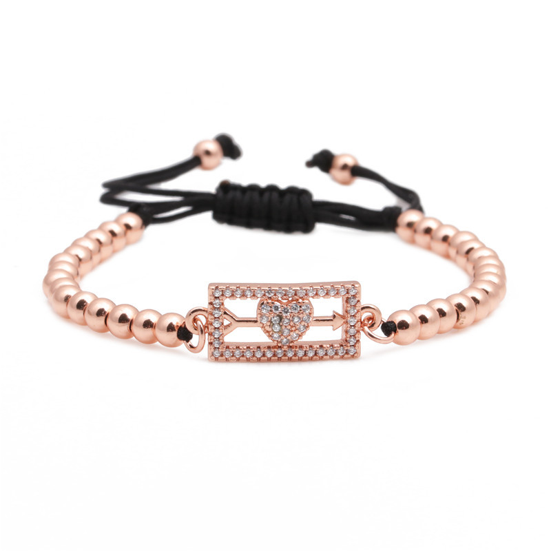 Copper Fashion Sweetheart bracelet  Alloy  Fine Jewelry NHYL0657Alloy