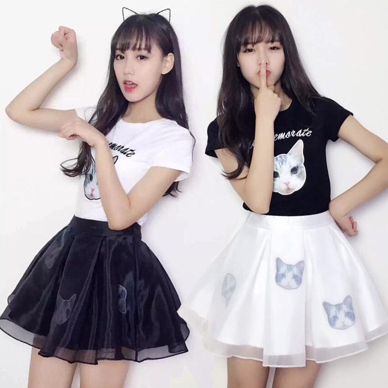2019新款韩版短袖套装裙女装两件套时尚学生时髦运动连衣裙春秋季