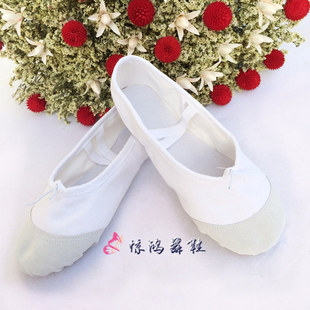 【Yuan Jinghong】Wholesale children adult dance practice shoes ballet soft-soled shoes leather toe cat claw shoes two-soled shoes