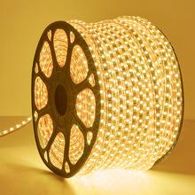 三色變光led燈帶條220v家用客廳裝飾吊頂長線燈七彩變色 超亮燈條