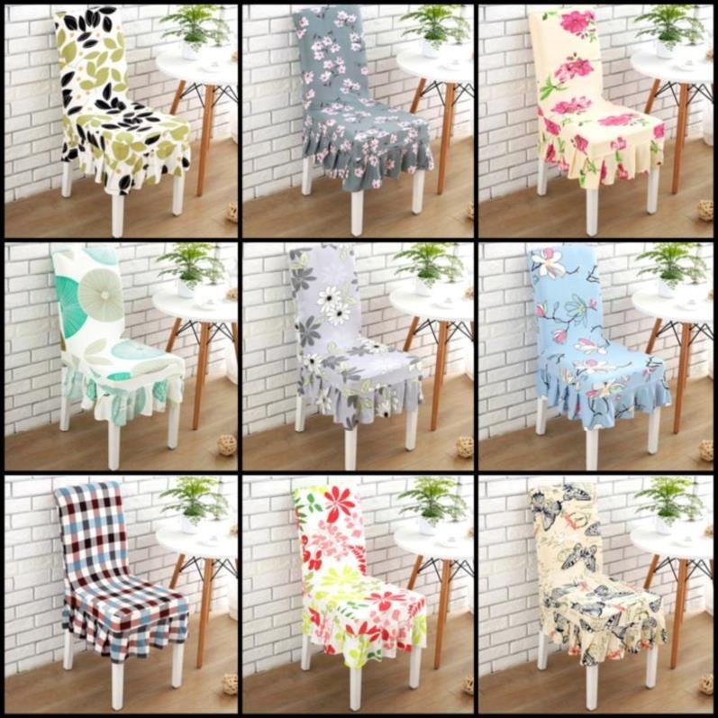 餐廳椅子坐墊椅套連體餐桌椅套面料套裝椅墊墊子布藝裝飾套子加厚