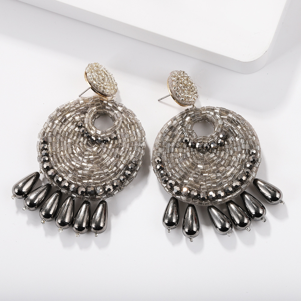 Alloy Vintage Tassel earring  (white)  Fashion Jewelry NHJQ11296-white