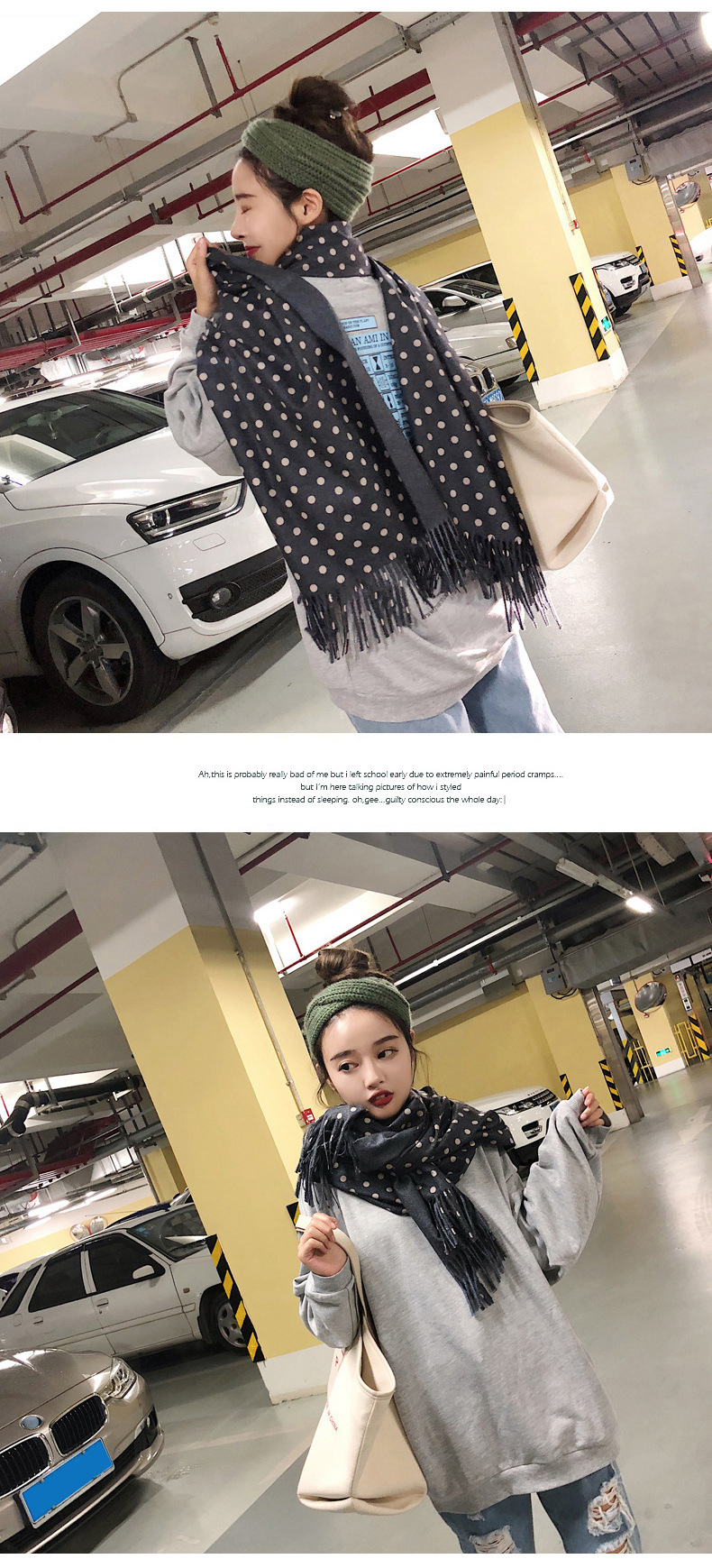 Scarf women winter new solid color scarf scarves cashmere feel thick scarf oversized shawl NHTZ184211
