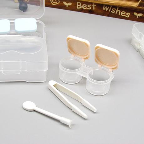 Hyun Fu xách tay kính áp tròng trường hợp nhỏ gọn và thuận tiện vô hình hộp mate ấn mở hộp làm đẹp trực tiếp nhà máy Phụ kiện kính