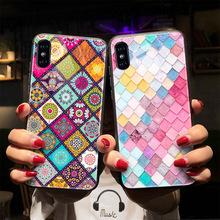 適用于iPhone x 7 plus手機殼蘋果玻璃殼ins全包防摔一件定制代