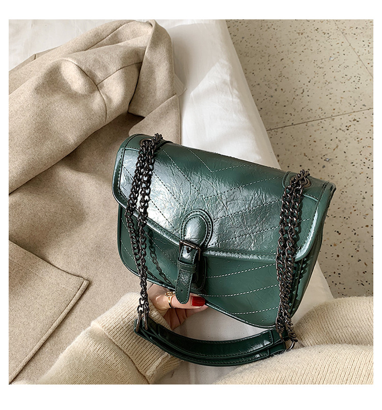 PU Leather Chain Messenger Leather Korean Shoulder Magnetic Buckle Bag NHLD187214