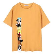 原創定制純棉短袖t恤 燙畫印花刺繡女裝休閑全棉體恤小單1件起做
