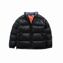 MAMINQIN原创立领拼接拼色棉衣男女ins冬季加厚宽松棉被服袄外套