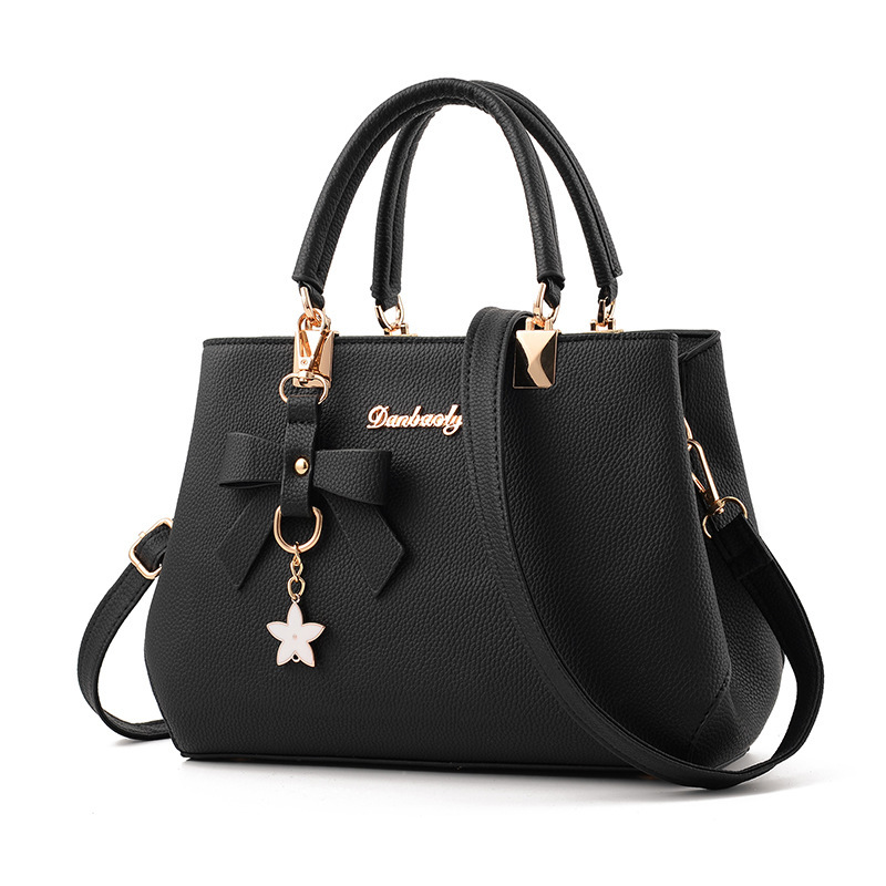 2019 New Style European And American Handbag Handbags Fashion Simple Shoulder Bag Bow Pendant Crossbody Bag Ms. Bags