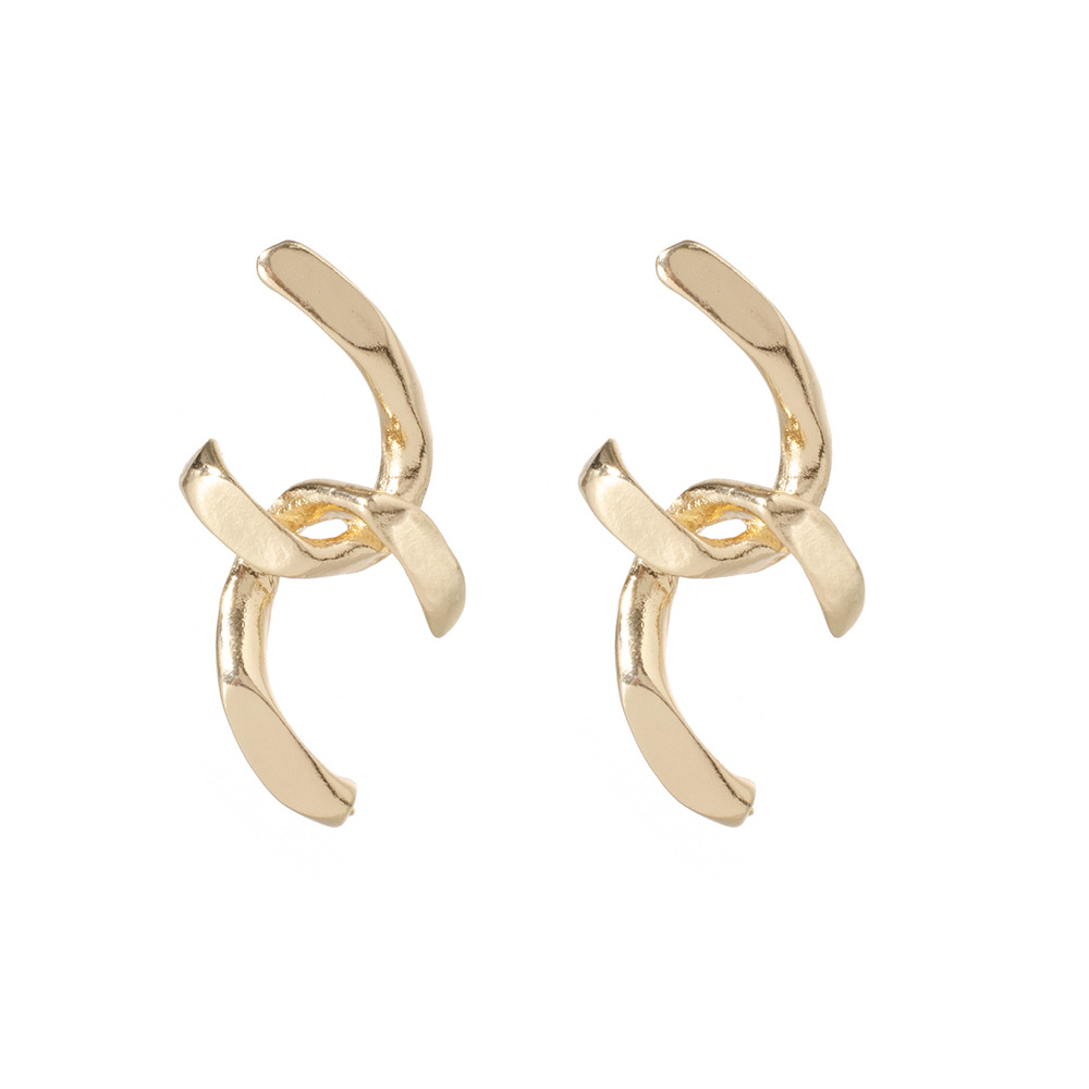 Simple Metal Geometric Stud Earrings NHPV189079