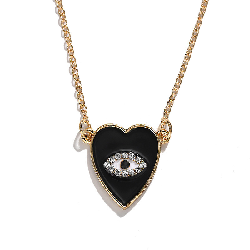 Womens Eyes Love Beadss Beads Alloy necklace NHJQ136419
