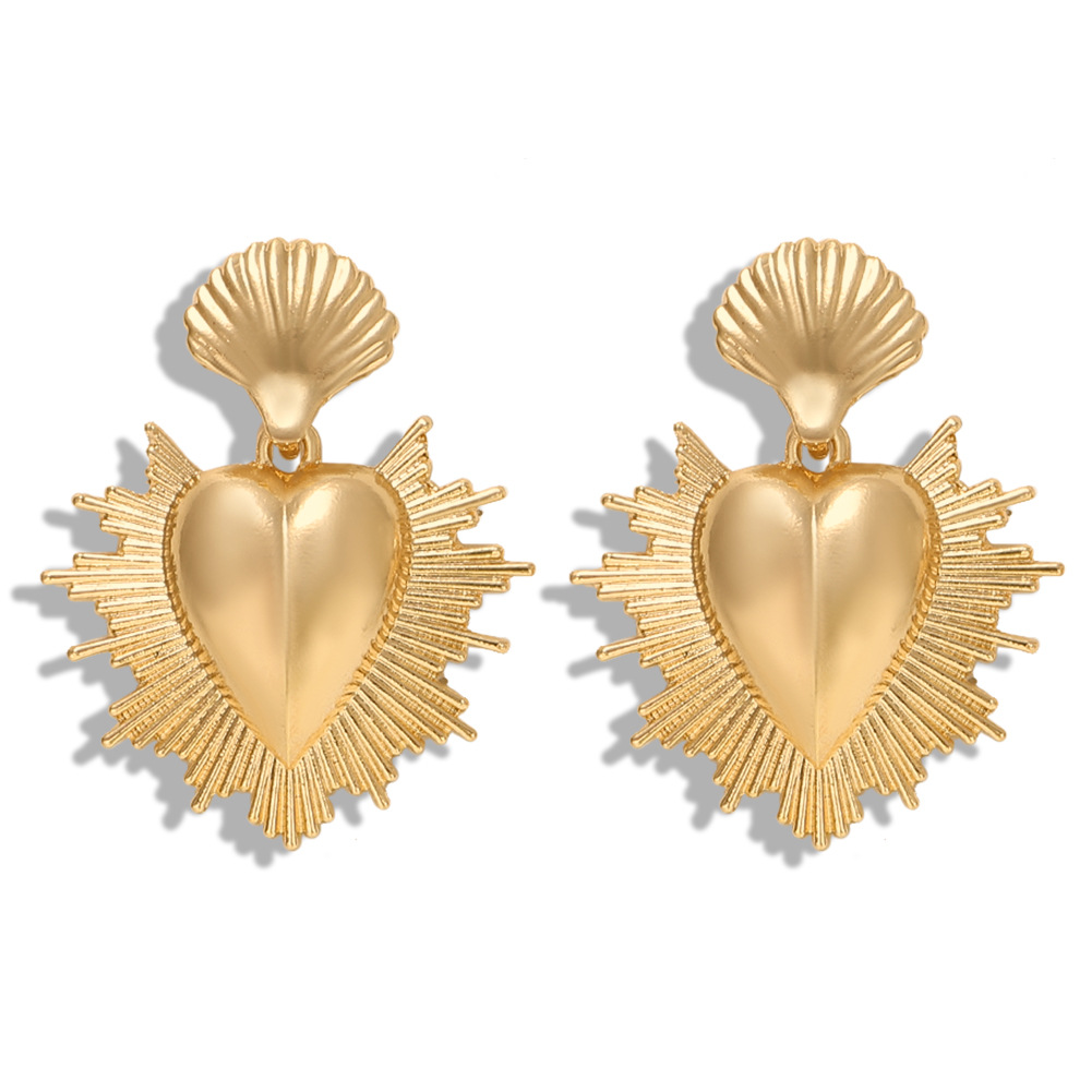 Alloy heart earrings simple and stylish NHJQ171241