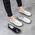 单鞋女2019春季新款百搭牛筋底女鞋真皮软底小白鞋防滑平底孕妇鞋