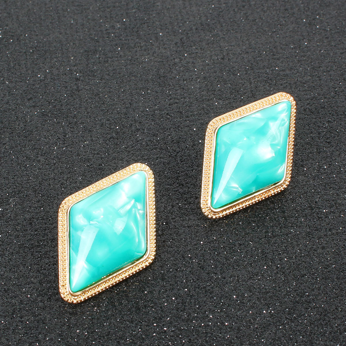 Fashion simple quadrilateral resin earrings NHCT155127