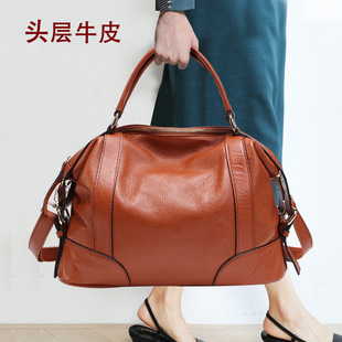 2021 autumn and winter new style European and American leather women's top layer cowhide bag ladies single-shoulder messenger bag 1006