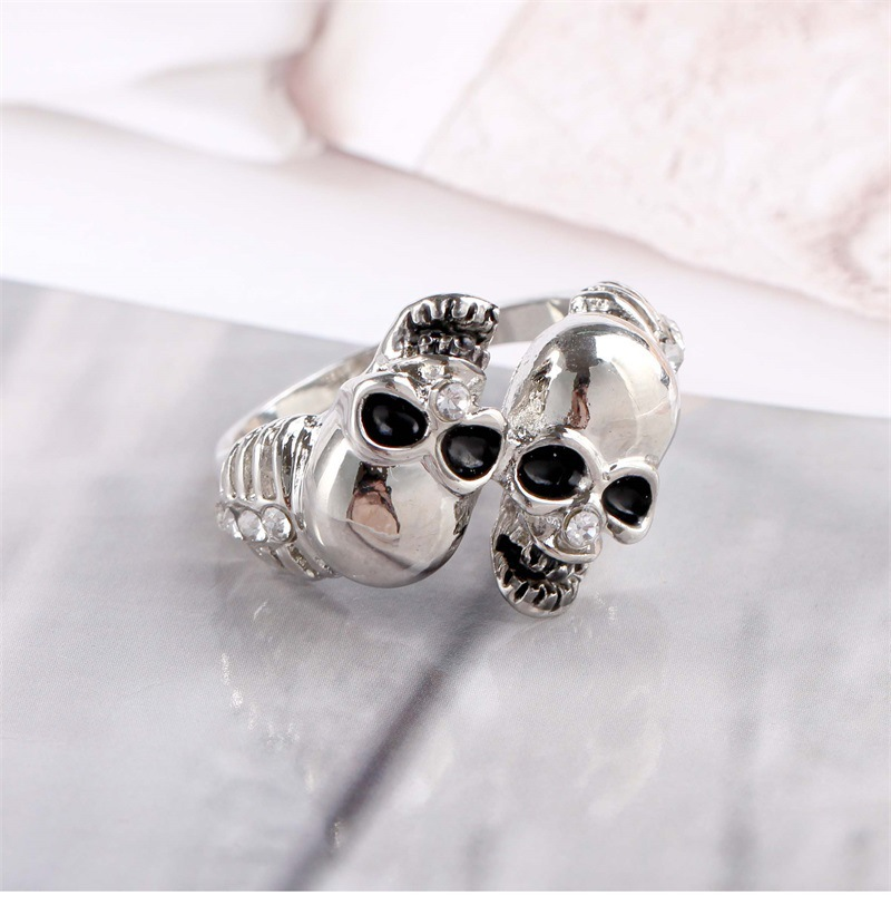 Personalized micro-set jewelry trend street hip hop ring non-mainstream skull men's ring NHKQ183501