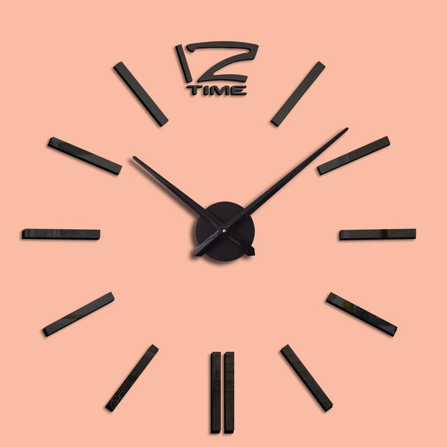 亚马逊爆款家居亚克力diy创意挂钟 北欧简约钟表 客厅装饰墙贴钟