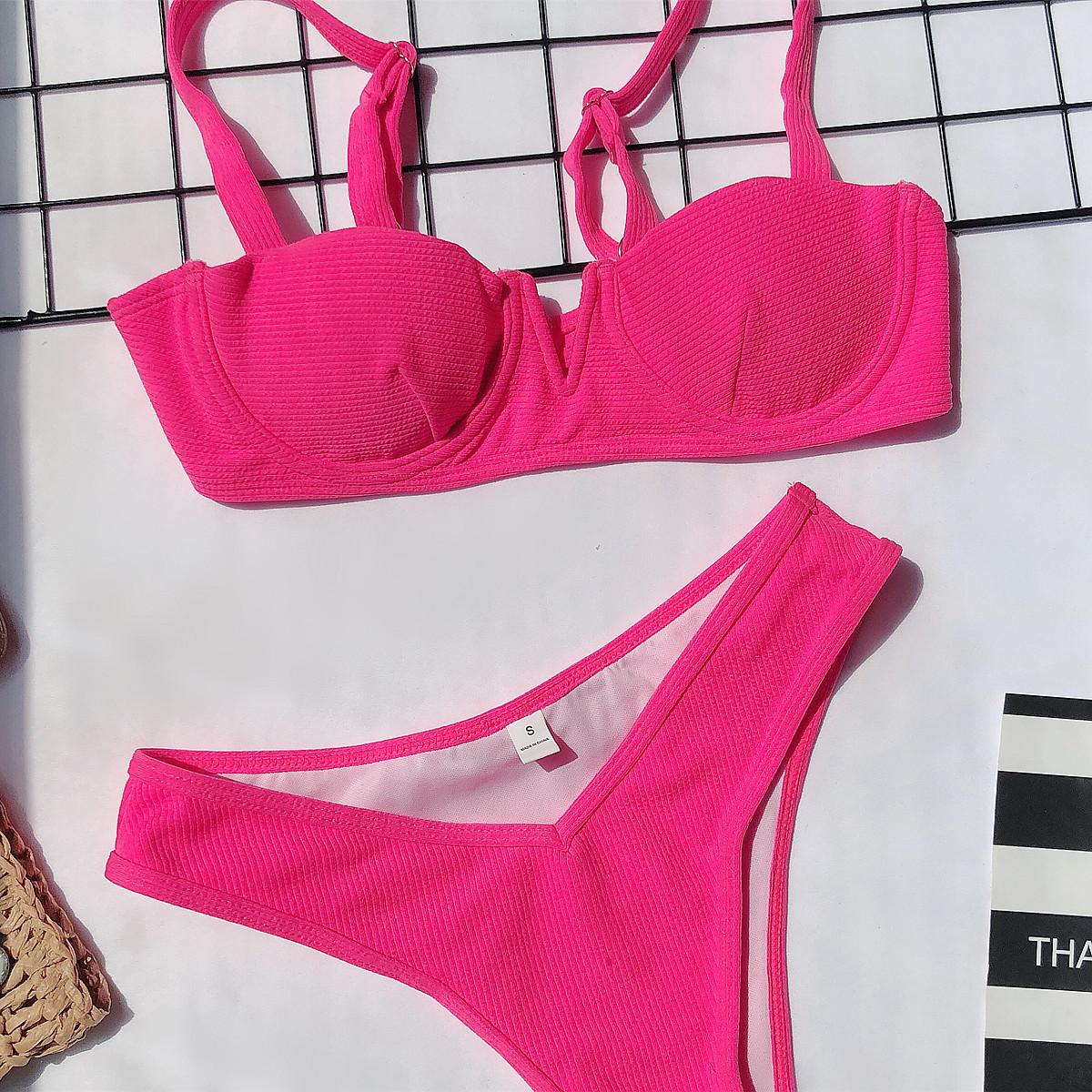 new bikini v-neck swimsuit ladies split swimwear   NSDA1212