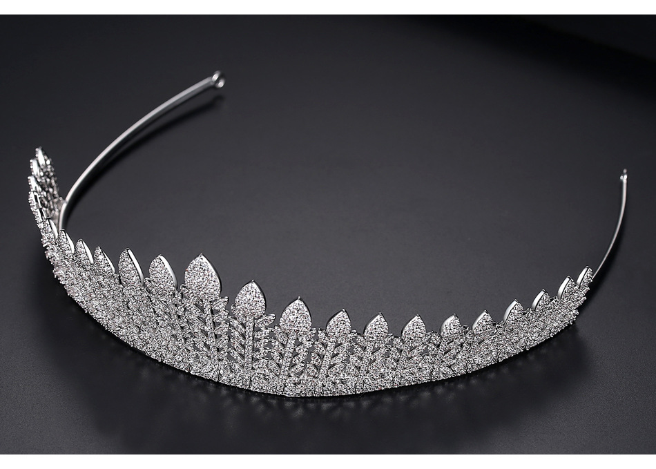 European and American fashion bride crown hair hoop paved tree branch banquet hair accessories wholesale gifts NHTM199526