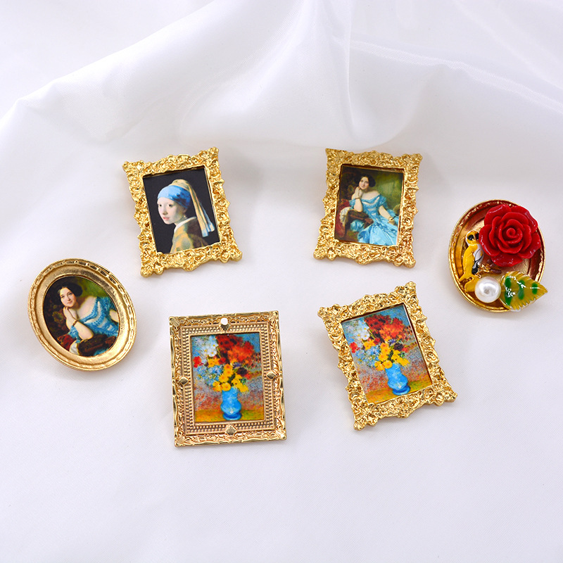New retro lady baroque brooch clothing accessories wholesale NHNT203550